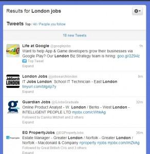 Twitter Student Job Search