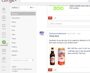 Google Plus Students UK