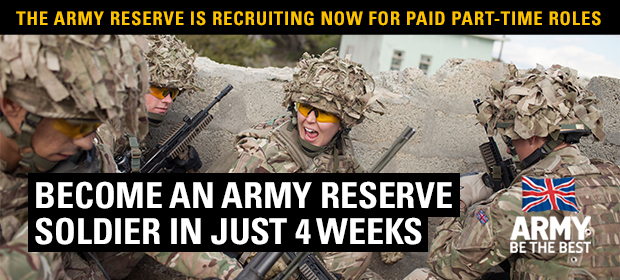 Reservist Jobs with the British Army - Summer Challenge